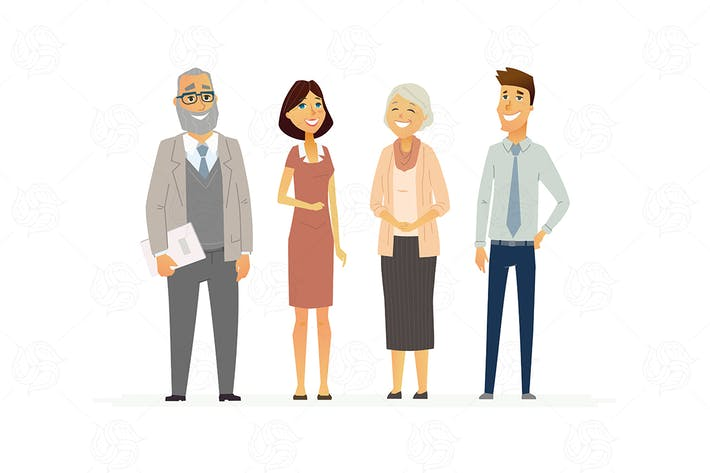 Cover Image For Business People - modern vector composition