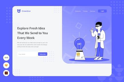 Explore Fresh Idea - Website Header Illustration