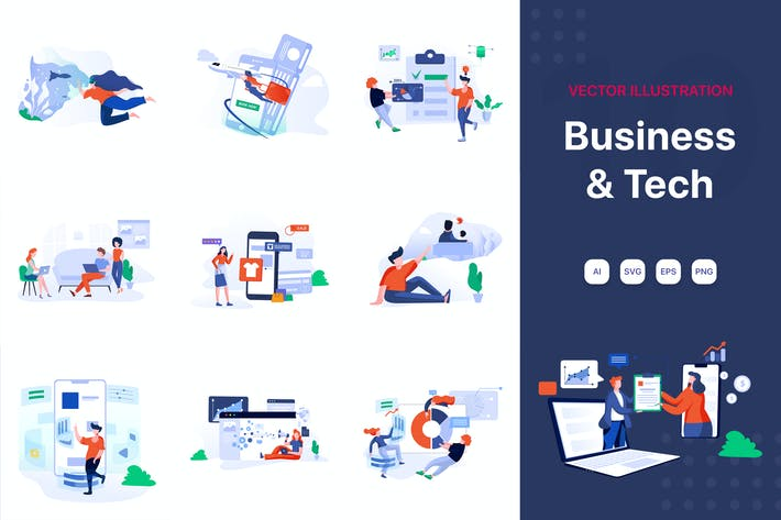 Thumbnail for Business & Technology Illustrations