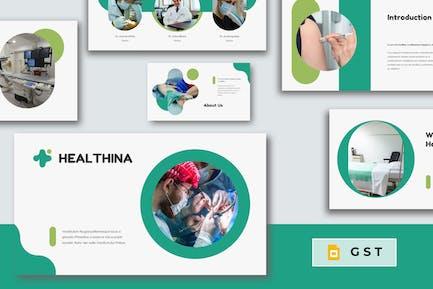 HEALTHINA - Медицинский Шаблон слайдов Google