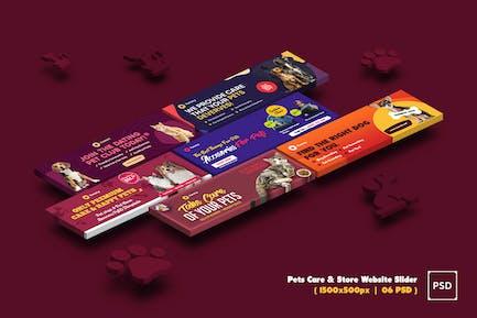 Pets Care & Store Website Slider