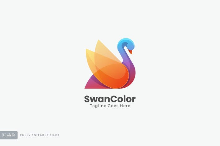 Thumbnail for Swan Colorful Logo Template