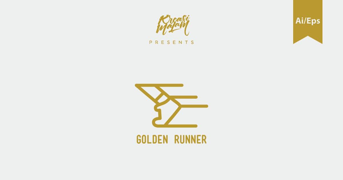 Download Golden Runner Logo Template by Ijajil