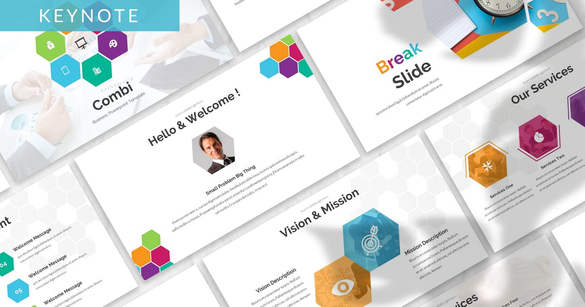 Download Combi - Business Keynote Template by 83des