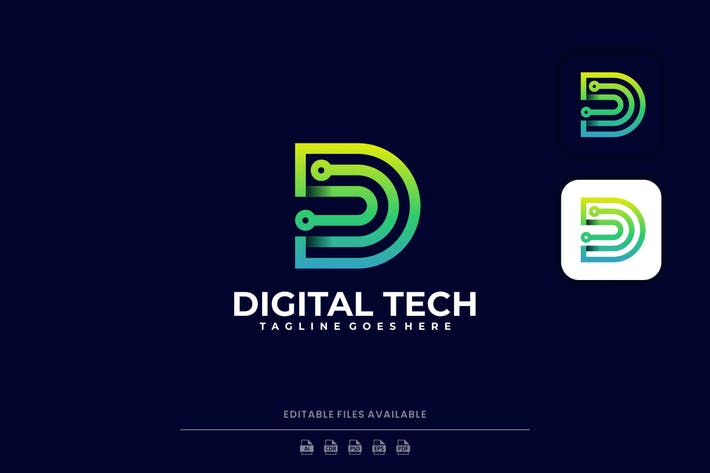 Letter Digital Icon Logo