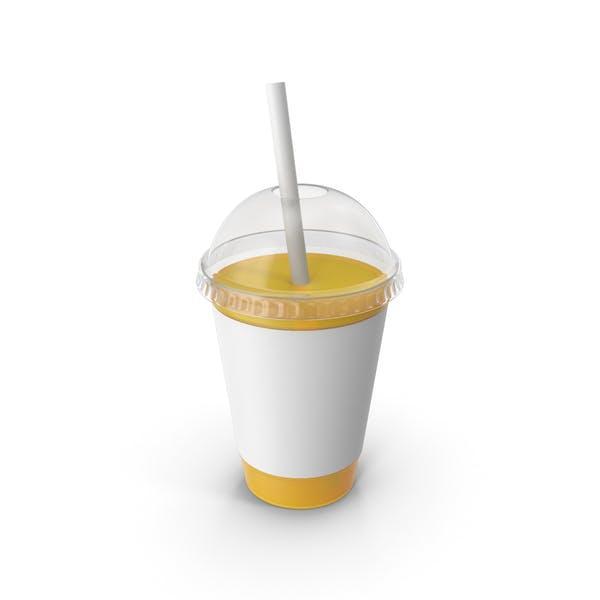 Сок Пластиковая чашка Оранжевый
