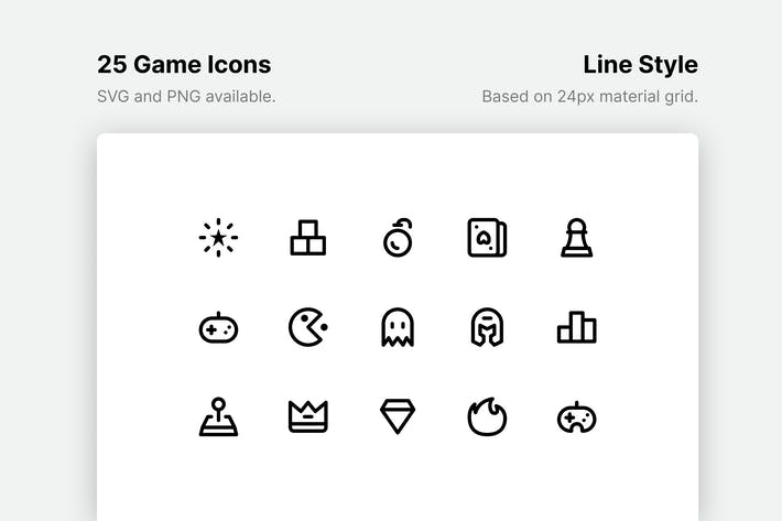 Thumbnail for Game Line Icons