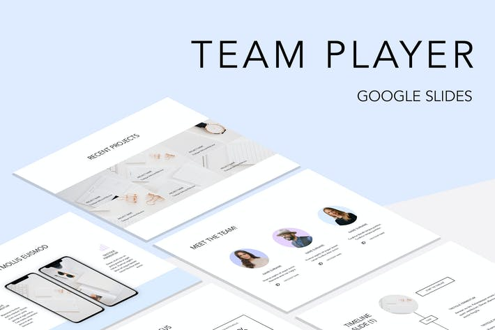 Thumbnail for Team Player Google Slides