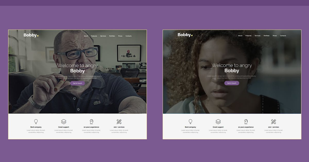 Download Bobby - Creative One Page Joomla Template by JoomlaBuff