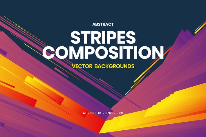 Thumbnail for Abstract Stripes Composition Backgrounds