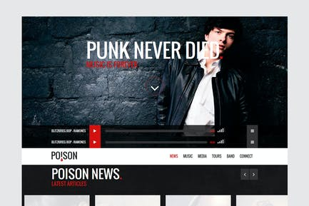 Poison - Music HTML One Page Template