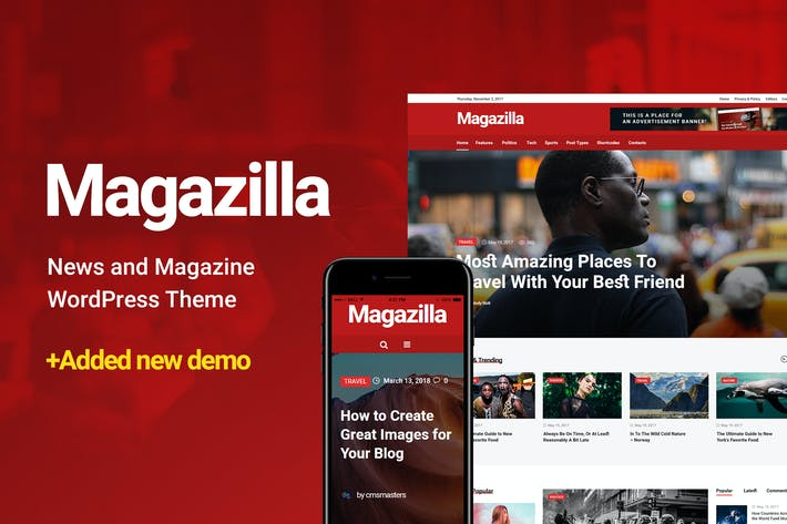 Thumbnail for Magazilla - News & Magazine Theme