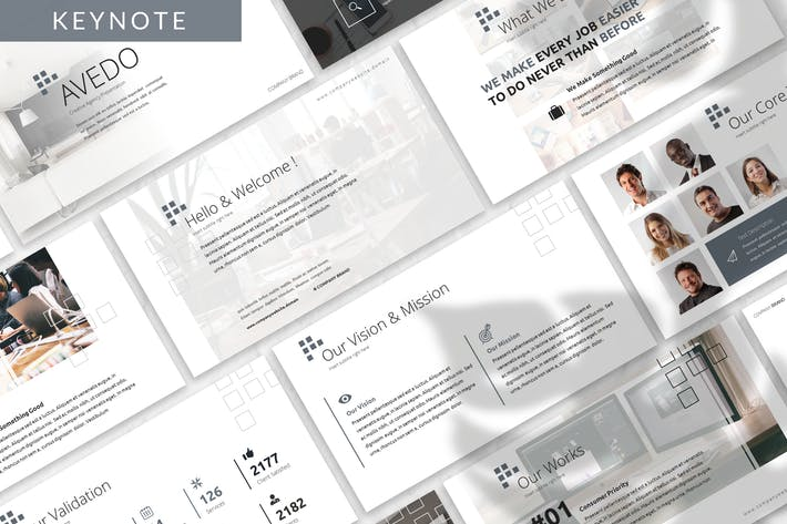 Cover Image For Avedo - Business Keynote Template