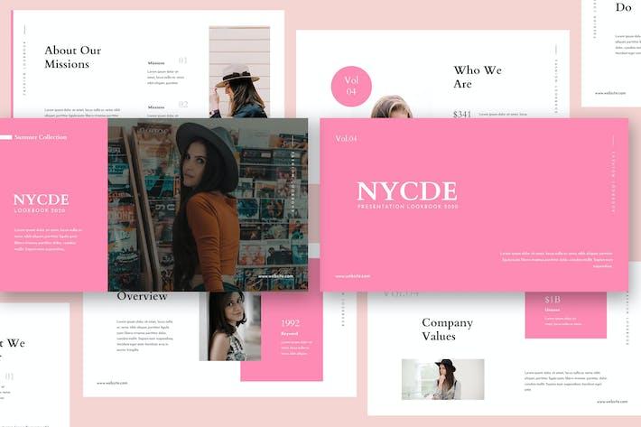 Thumbnail for Nycde Fashion Lookbook Keynote