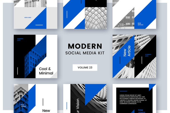 Thumbnail for Modern Social Media Kit (Vol. 23)