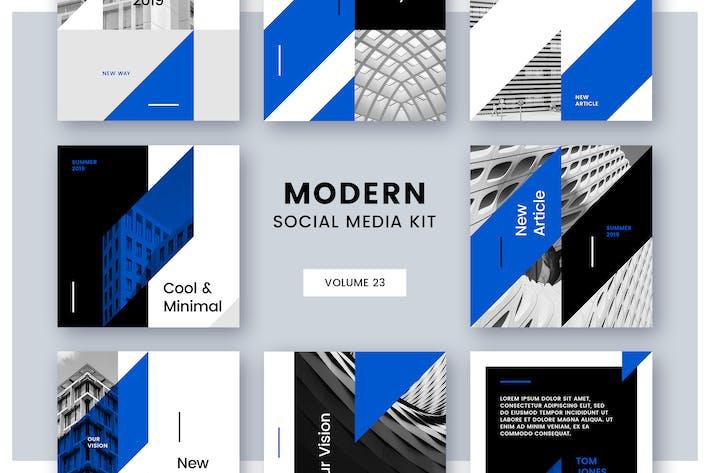 Cover Image For Modern Social Media Kit (Vol. 23)