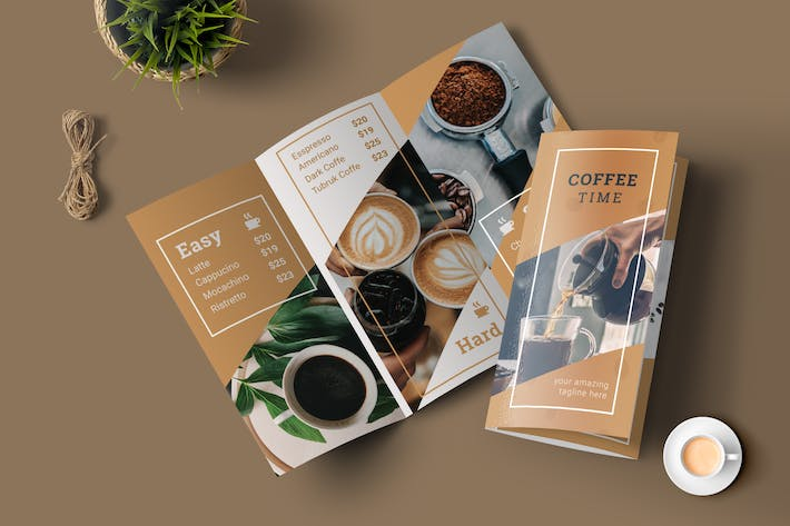 Cover Image For Coffee Menu Trifold