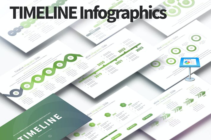 Thumbnail for TIMELINE - Keynote Infographics Slides