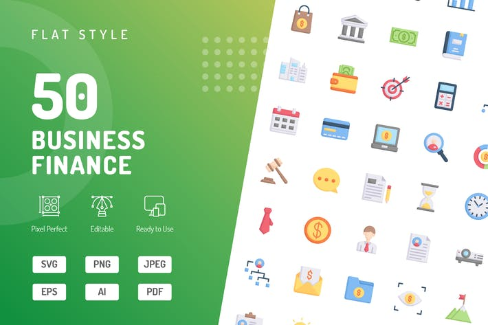 Business Finance Flat Icons
