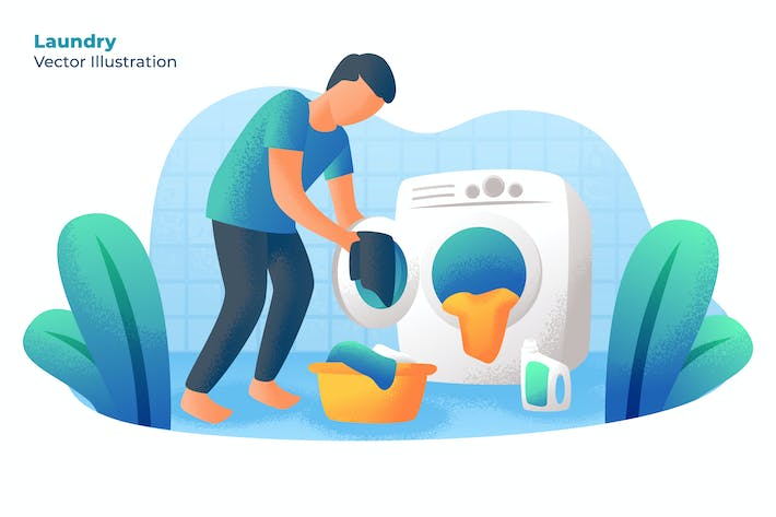 Thumbnail for LAUNDRY - Vector Illustration