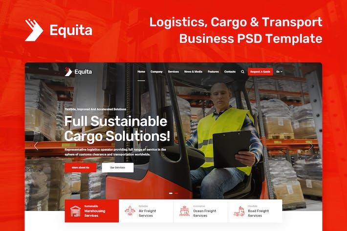 Equita - Logistics and Transport PSD Template