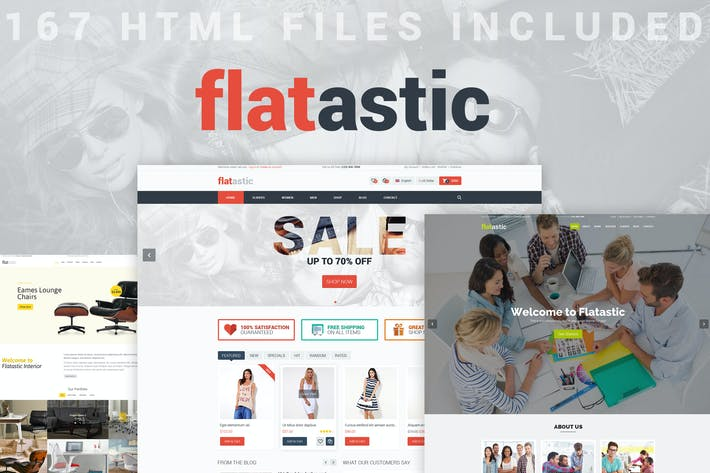 Thumbnail for Flatastic - Versatile HTML Template