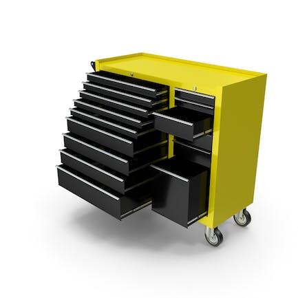 Opened Tool Box Yellow New