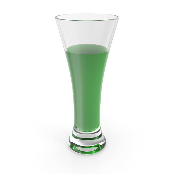 Glass with Green Water