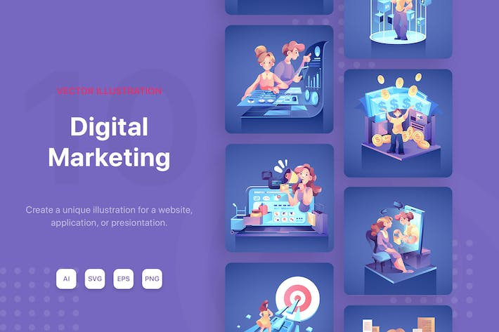 Thumbnail for Digital Marketing Illustrations