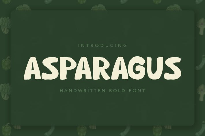 Thumbnail for Asparagus Handwritten Font