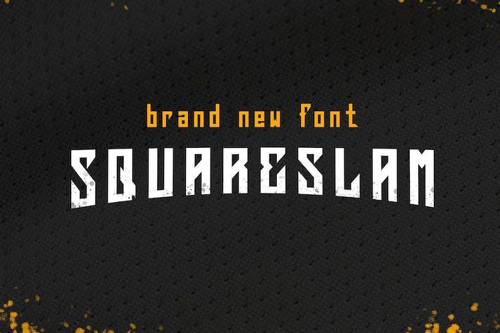 Thumbnail for Squareslam - NFC Font Family