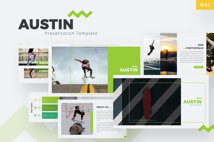 Thumbnail for Austin - Skateboard Google Slides Template