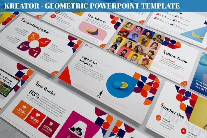 Kreator - Geometric Powerpoint Template