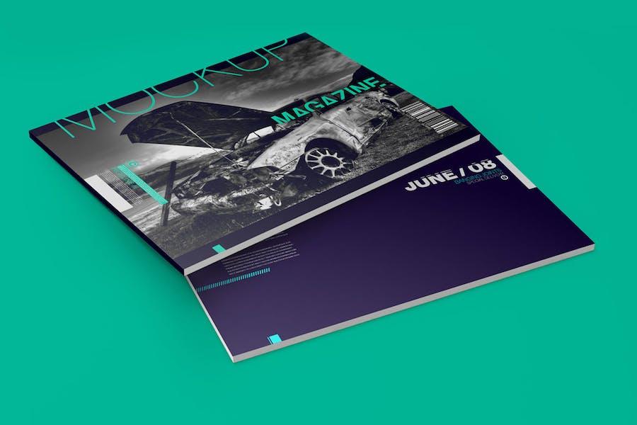 Horizontale A4 Magazin-Katalog Mockup