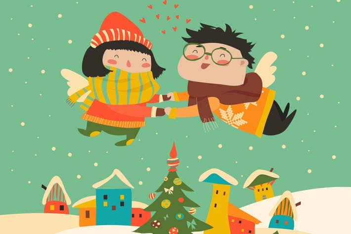Thumbnail for Stylish Christmas card in vector