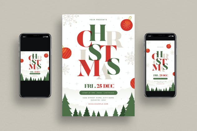 Christmas Party Flyer + Social Media