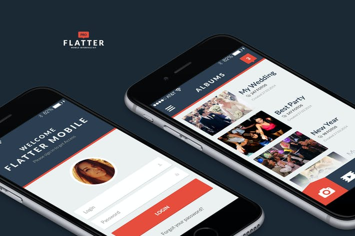 Thumbnail for Flatter Mobile UI Kit