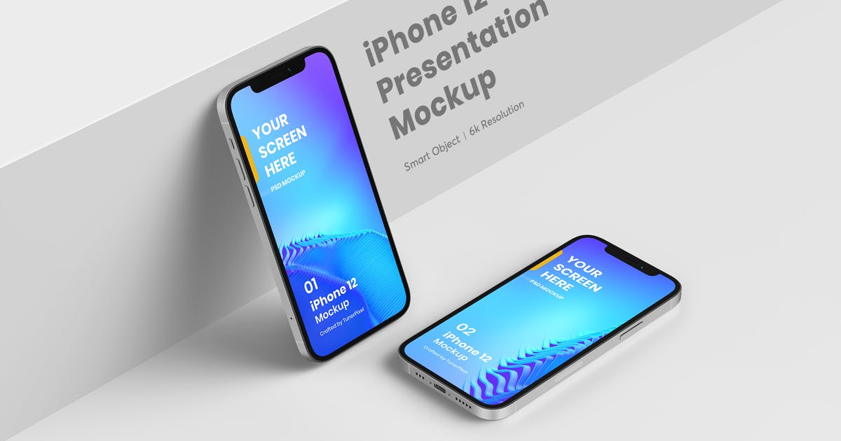 Download Stylish iPhone 12 Mockup 7.0 by tunerpixel