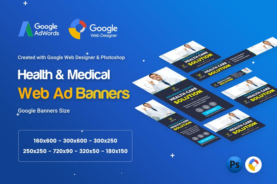 Health & Medical Banners Ad - GWD & PSD