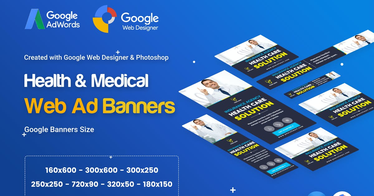 Download Health & Medical Banners Ad - GWD & PSD by iDoodle