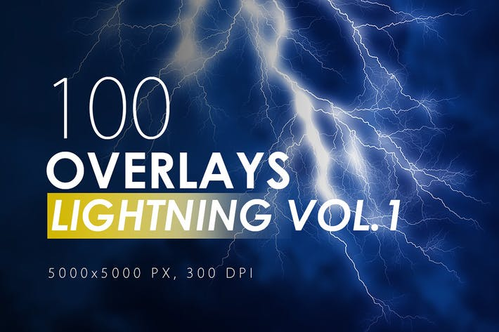 Thumbnail for 100 Lightning Overlays Vol. 1