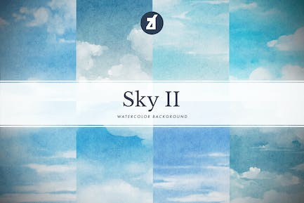 8 Sky watercolor background