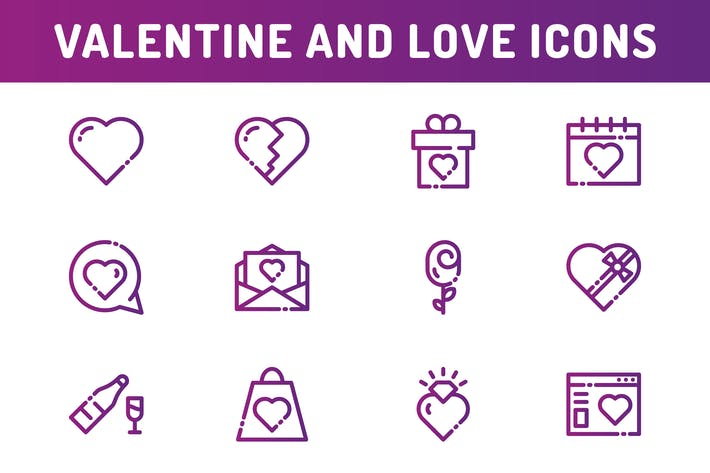 Thumbnail for Valentine And Love Icons