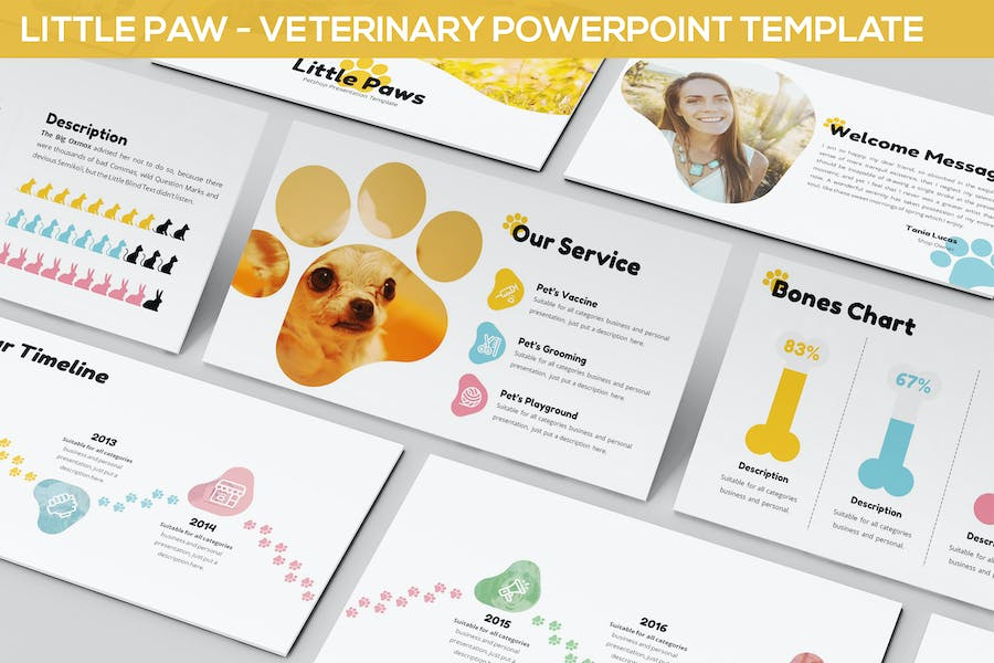 Little Paw - Veterinary Powerpoint Template