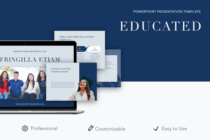 Thumbnail for Educated PowerPoint Template