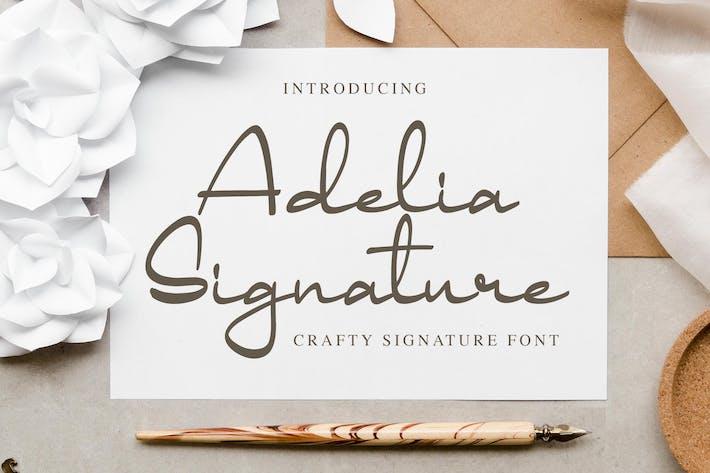 Thumbnail for Adelia Signature - Crafty Signature Font