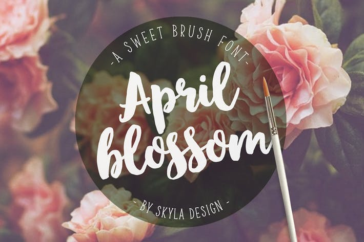 Cover Image For Script brush font, April blossom