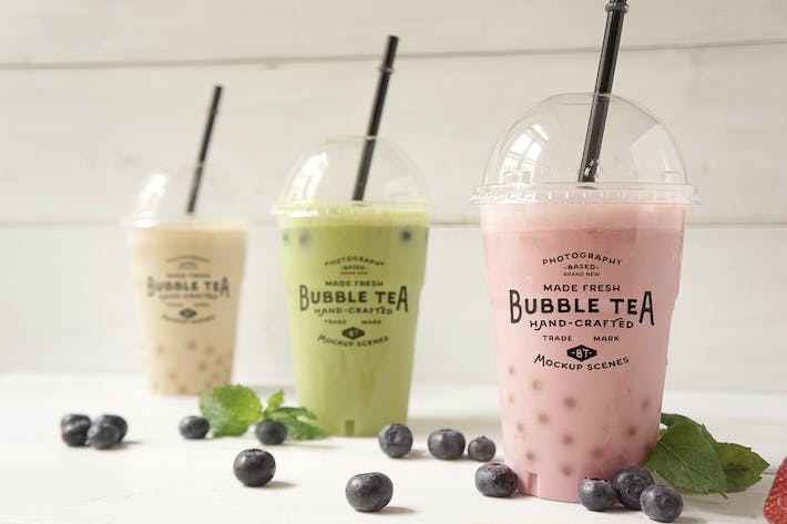 Thumbnail for Bubble tea Coctail mockup