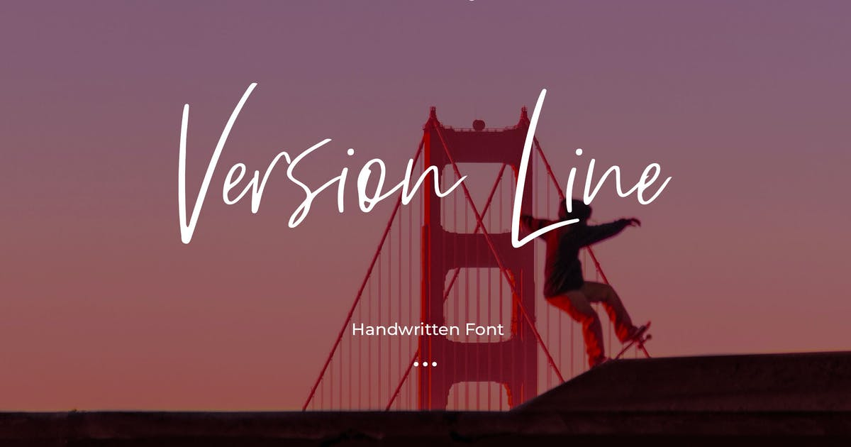 Download Version Line - Handwritten Font by Justicon