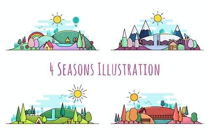 4 Seasons Illustration